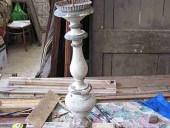 Antico candeliere da restaurare