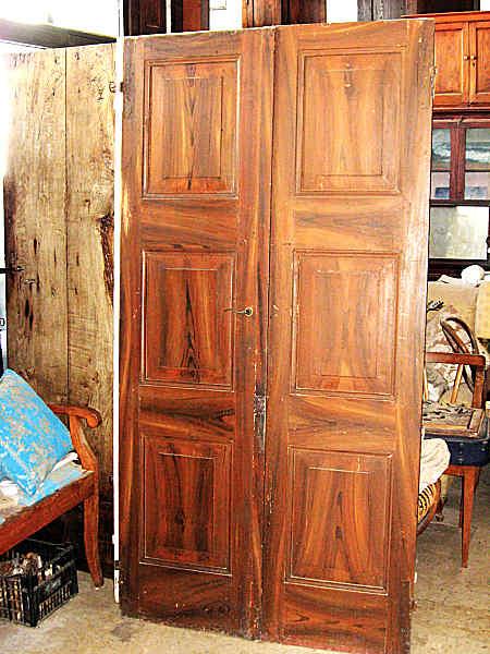 Porte antiche laccate con effetto finto legno portantica - Porte laccate avorio ...