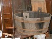 Mastella in rovere prima del restauro