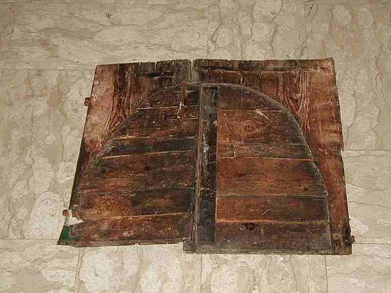 Coppia di ante antiche da forno