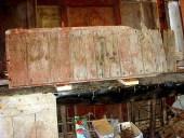 L' Altro battente del portone antico prima del restauro