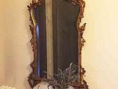 Restauro completato della specchiera antica dorata a foglia