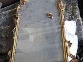 La specchiera antica dorata prima del restauro