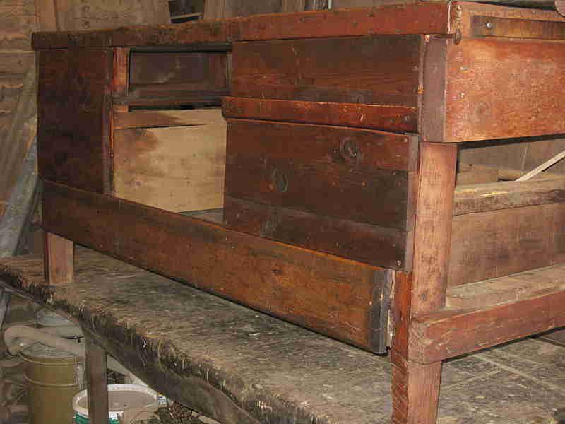 Banco antico da lavoro arredamento interni portantica - Banco da lavoro cucina legno ...