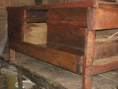 Rifacimento schiena del bancone di officina industrial style