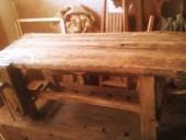 Tavolo da lavoro antico da falegname da restaurare