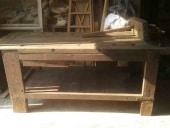 Bancone antico da falegname prima del restauro