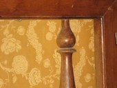 Dettaglio del cancello in legno