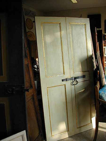 Antica Porta Laccata Avorio Filetto Foglia Oro Portantica