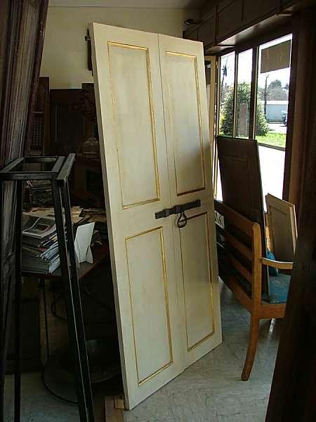 Antica porta laccata avorio filetto foglia oro portantica - La vecchia porta ...