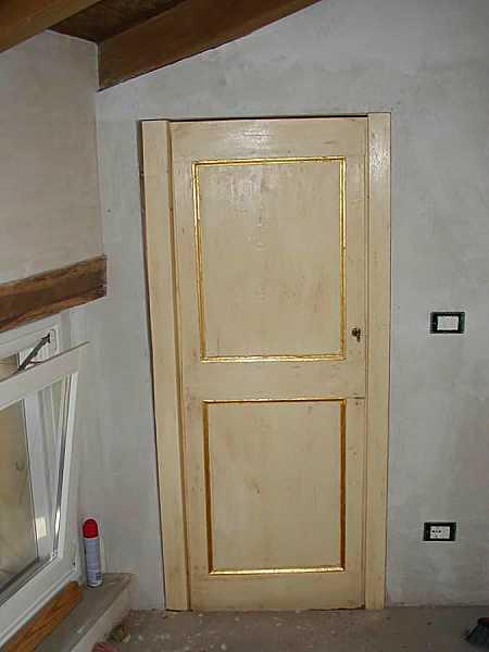 Come salvare una vecchia porta laccandola portantica - Porte laccate avorio ...