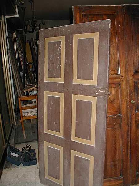 Coppia di porte antiche rustiche laccate portantica for Porte antiche rustiche