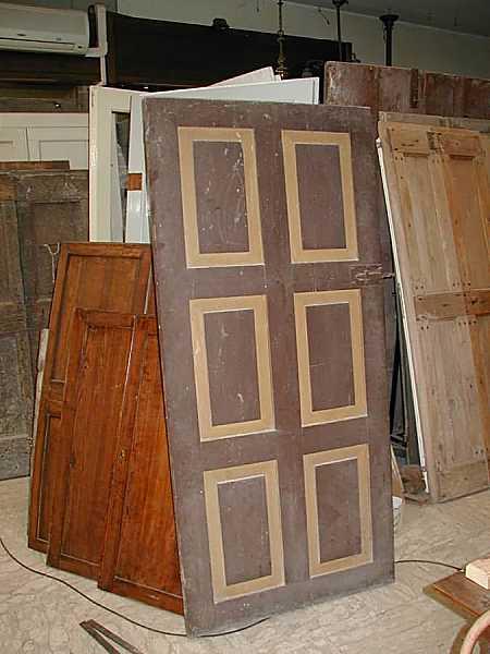 Assez Coppia di porte antiche rustiche laccate. | Portantica BH37