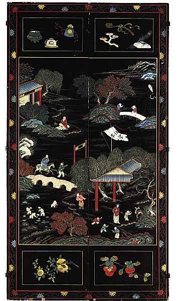 Porte antiche laccate e dipinte alla cinese portantica - Porte antiche dipinte ...