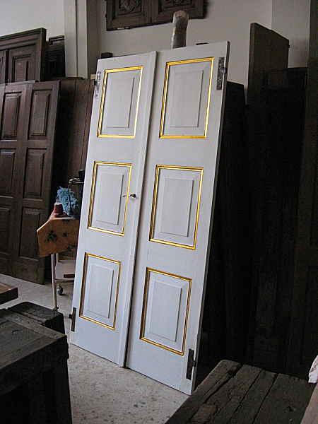 Porte Antiche A Due Ante.Porta Antica Laccata Bianca E Oro Portantica