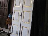 Porta antica laccata in bianco