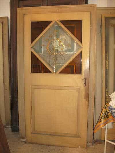 Porte antiche laccate con vetro dipinto a mano portantica for Porte antiche laccate
