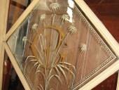 Il dettaglio del vetro antico