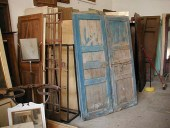 La vecchia porta prima del restauro
