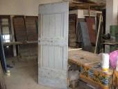 Vista interna della porta vecchia restaurata
