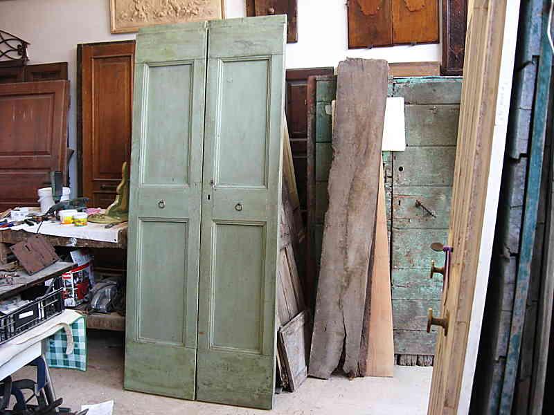 Porta vecchia trasformata in porta scorrevole portantica - La vecchia porta ...