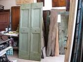 La vecchia porta dopo gli interventi