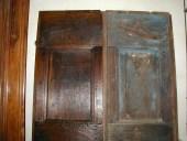 Il Portoncino nelle due fasi a confronto, pre e post restauro(zona superiore)