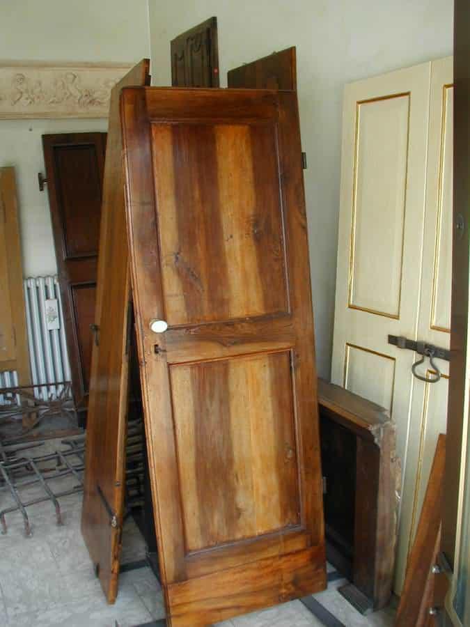 Piccola porta in noce allungata e restaurata. | Portantica