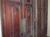 7)Coppia di splendide porte antiche in noce nazionale