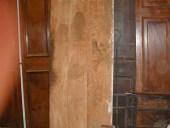 Vista posteriore porta in pioppo dopo l'allungo.