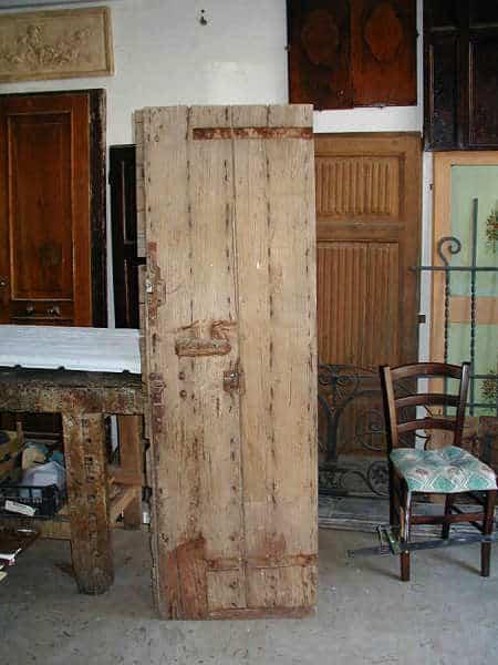 Vista posteriore dell'altro battente prima del restauro.