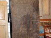 Porta antica in rovere (vista posteriore).