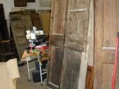 Vista anteriore porta prima del restauro.