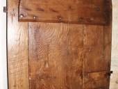 Dettagli porta fatta a mano restaurata