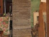 Vista anteriore porta antica pedonale barocca