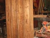 La porta rustica dopo la sola pulitura