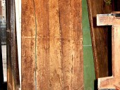 Porta antica rustica prima del restauro