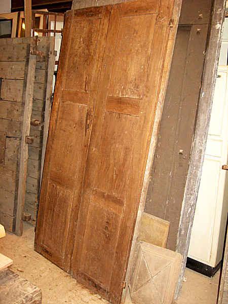 Quando Il Design Rende Unica La Porta : Porta antica in noce chiara fatta a mano portantica