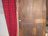 Porta antica anta unica in olmo e noce