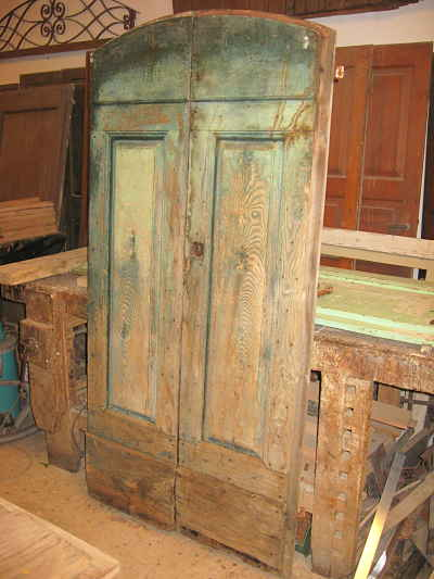 17) Portoncino antico rustico per interni