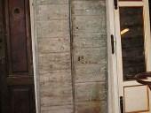 6) Portoncino antico stalla; piccolo portoncino in castagno, toscano.
