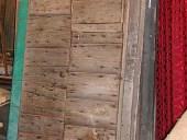 7) Antico portoncino rustico toscano in castagno.