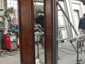 Prove di montaggio del rivestimento su struttura in ferro