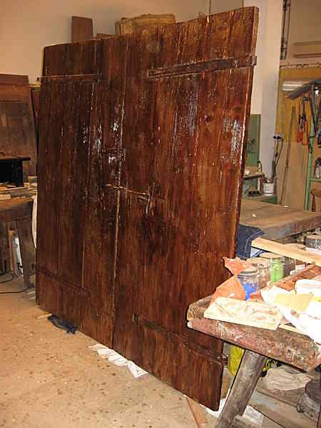 Molto Portone Antico ex stalla da restaurare | Portantica SB31
