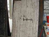Porta antica in decapè shabby chic(vista posteriore)
