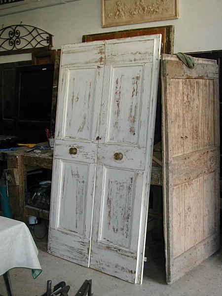 Porte antiche porta a due battenti in shabby portantica - Porta mantovana ...