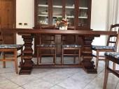 Il tavolo fratino prima del restauro in shabby chic naturale