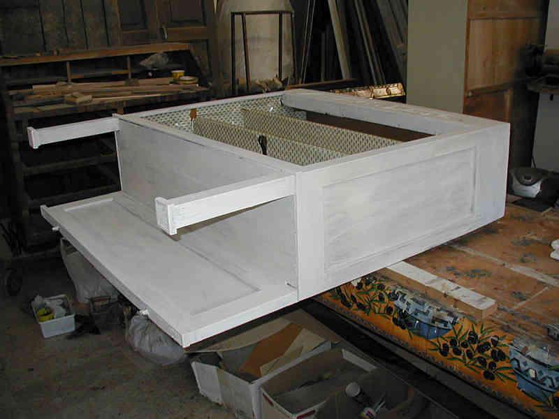 Piccola Credenza Da Restaurare : Riuso di credenza da legno a vista shabby portantica