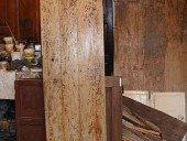 La porta restaurata