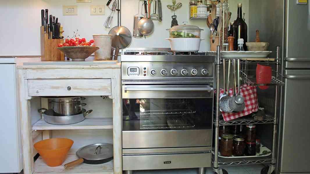 Mobile da cucina in shabby chic naturale portantica for Mobile cucina shabby